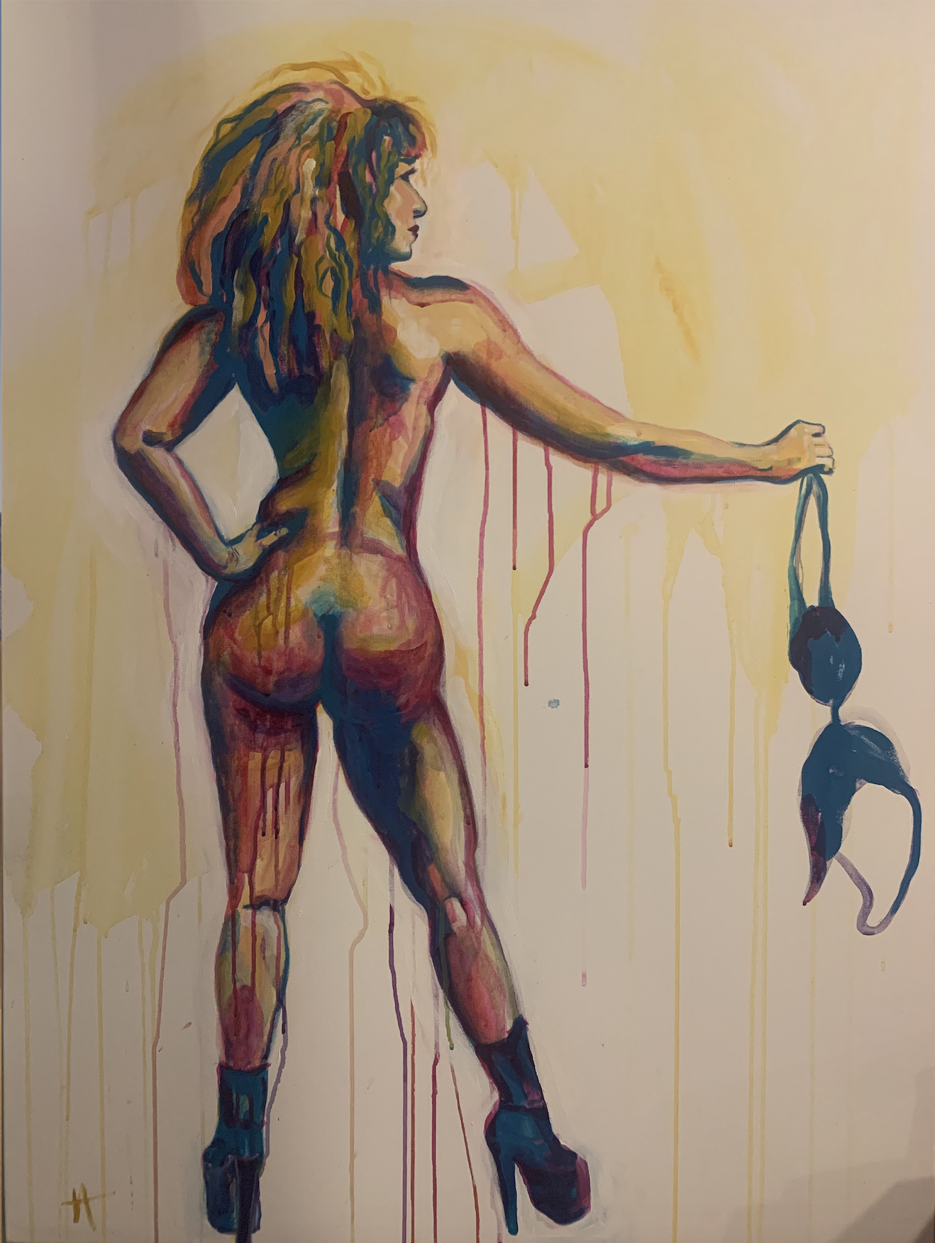 Stripped painting